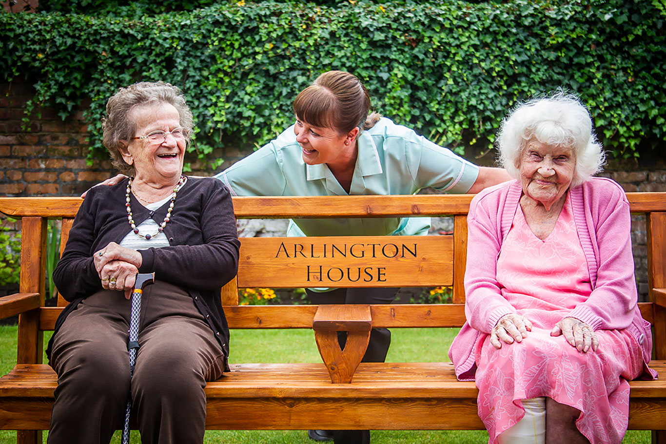 Sitting and having a chat at Arlington House Care Home