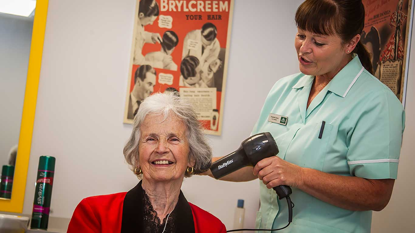 Getting your hair done at Arlington House Care Home